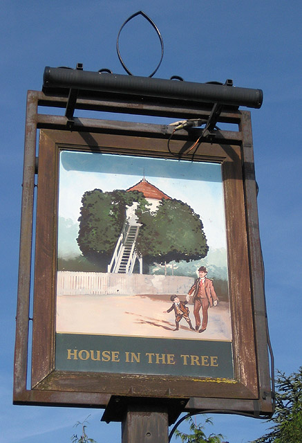File Unusual Pub Name House In The Tree Geograph Org Uk