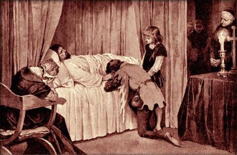 Věnceslav Černý - Smrt Karla IV. v roce 1378
