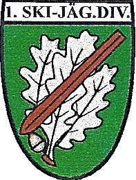 Insignia of 1st Ski Division: oak leaves and ski