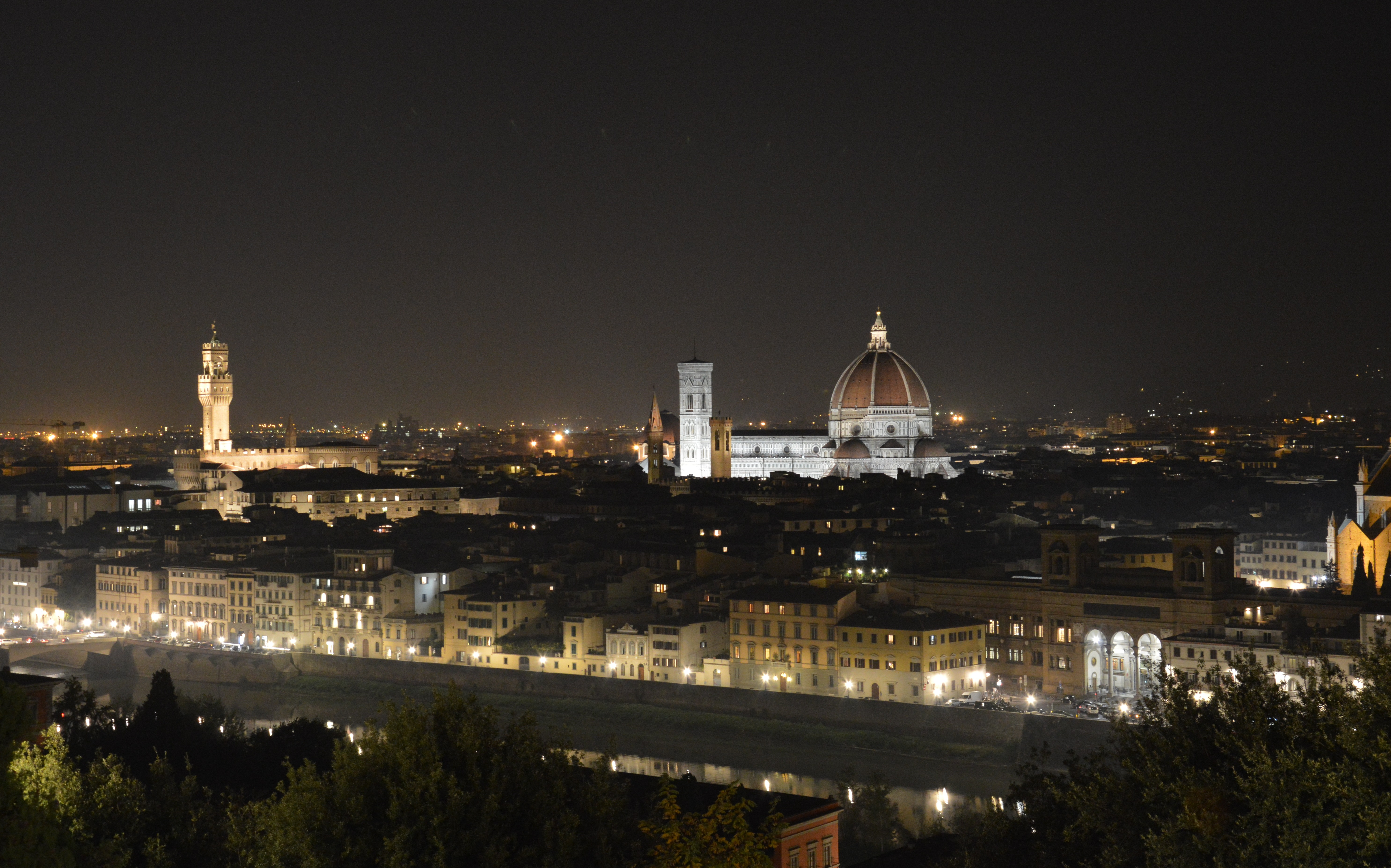 Italian Florence: File:View From Piazzale Michelangelo (Florence) Night.JPG