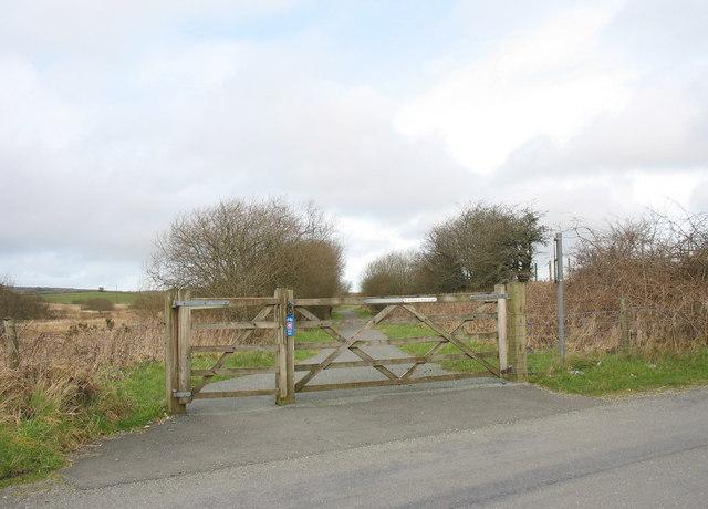 View north along the former trackbed of the Caernarfon-Afon Wen Railway Line - geograph.org.uk - 352064