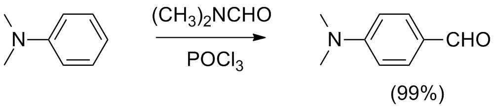 Схема реакции Вильсмейера— Хаака