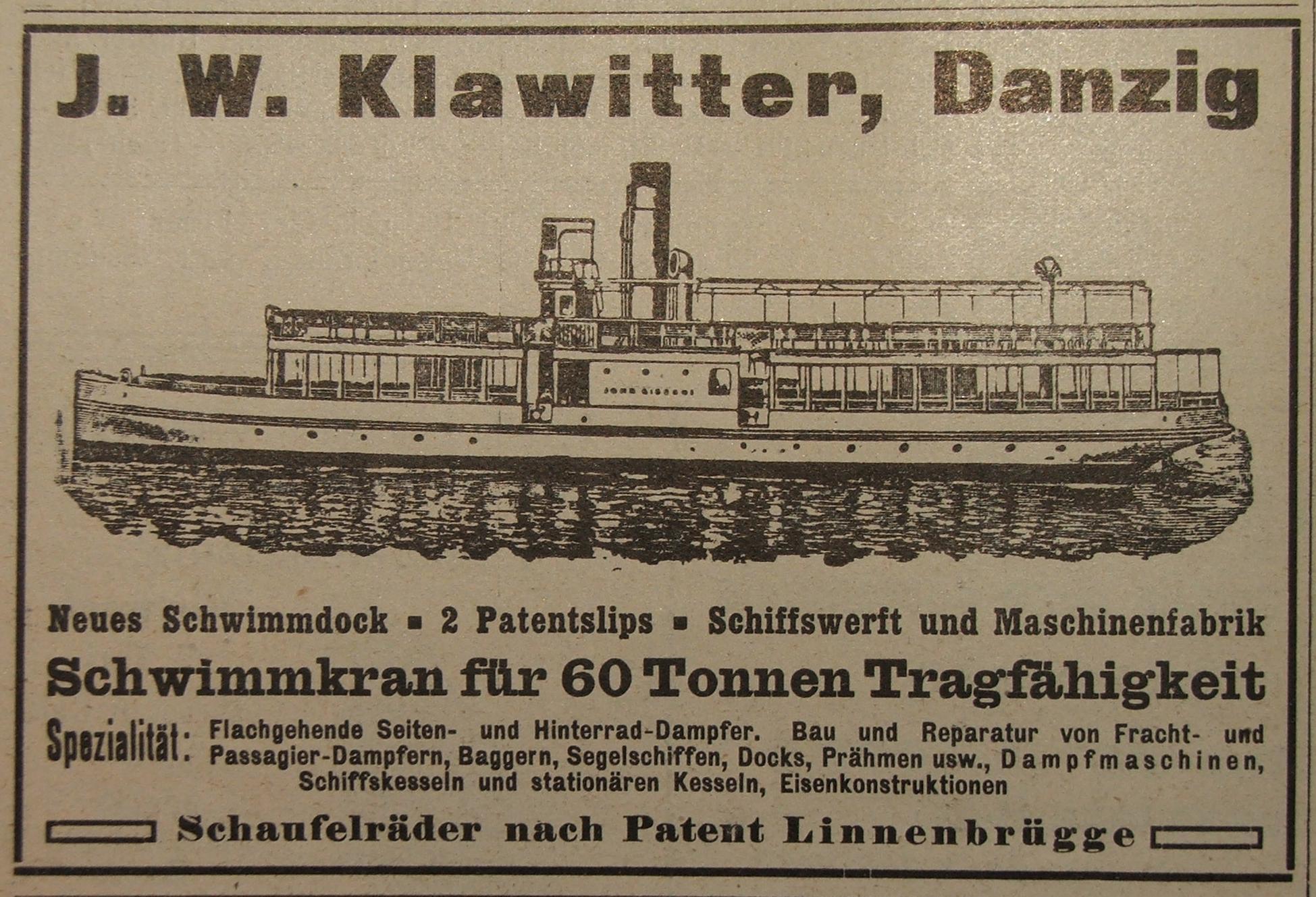 File:Werbeanzeige J.W.Klawitter Werft 1913.jpg - Wikimedia Commons