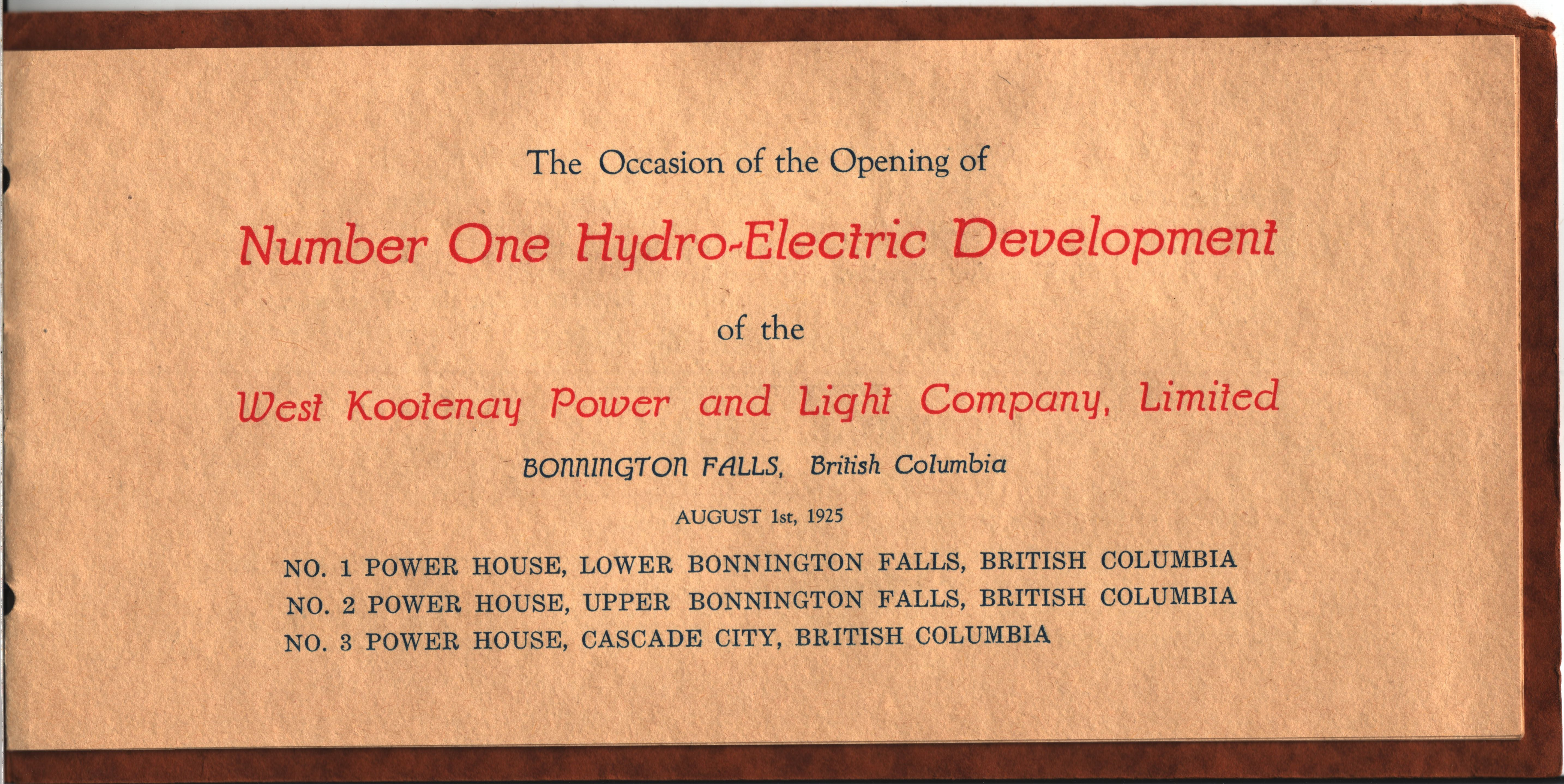 Good File:West Kootenay Power And Light Co. Number One Hydro Electric  Development 02 Pictures