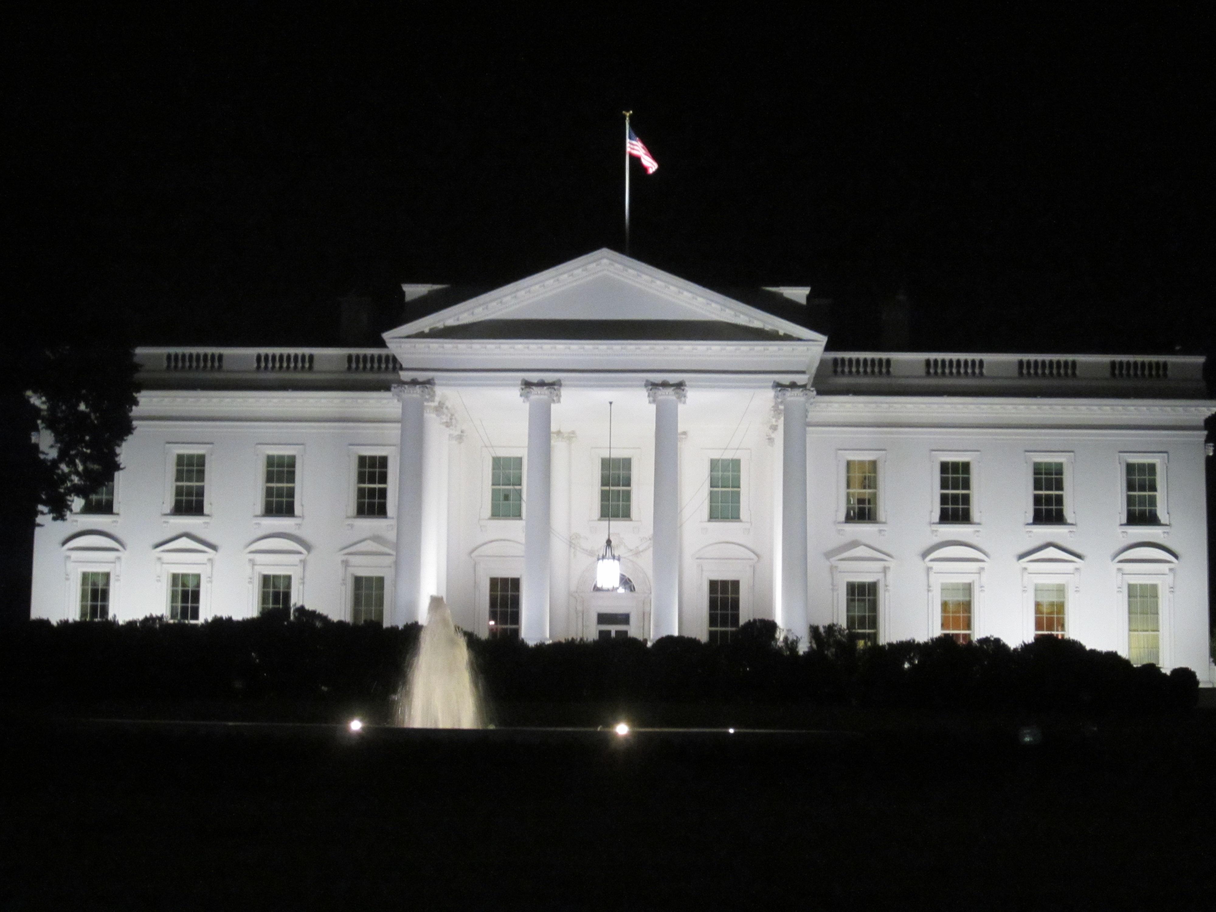 FileWhite House at night in Washington DC JPG Wikimedia