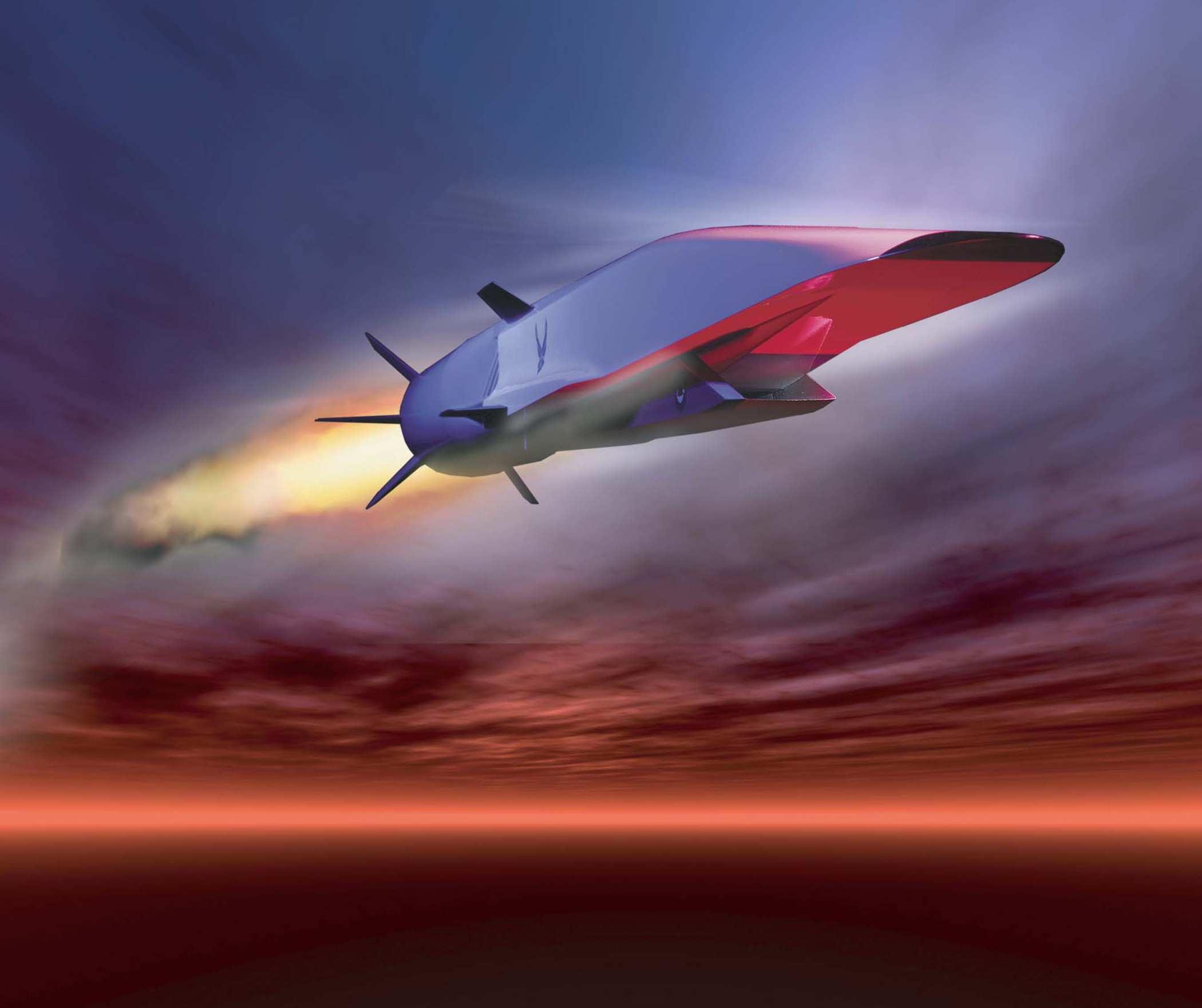 Artist's rendering of X-51A Waverider in powered flight.