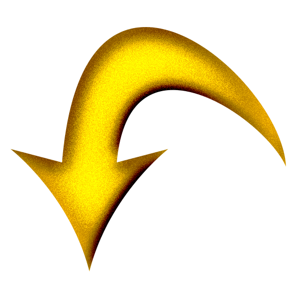 File Yellow Arrow Curved Down Png Wikimedia Commons