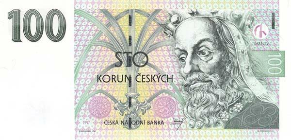 Monnaie : 100 Korun ou couronne tchèque.