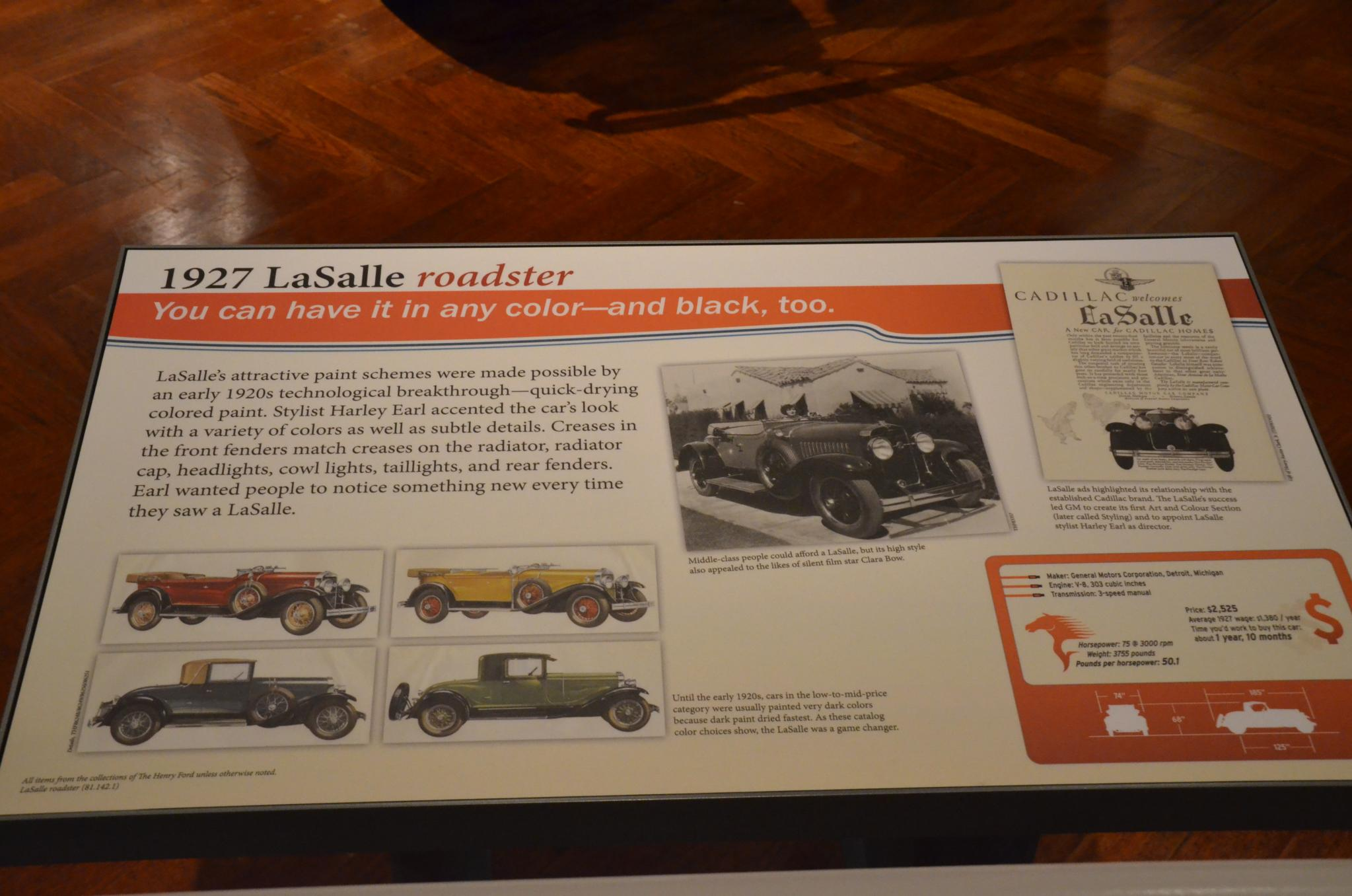 File:1927 LaSalle roadster - The Henry Ford - Engines