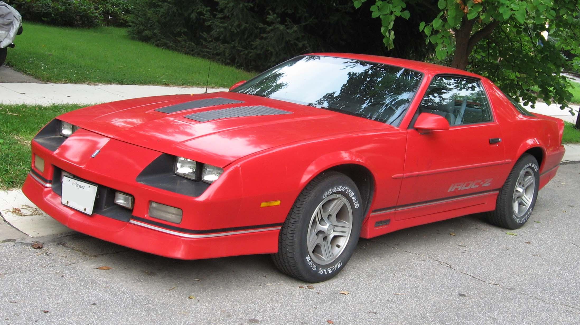 File 85 90 Chevrolet Camaro Iroc Z Jpg Wikimedia Commons