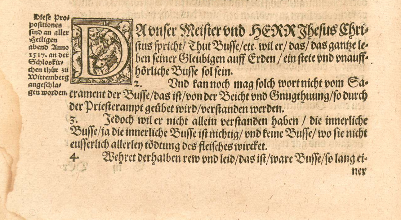 date martin luther posted 95 thesis