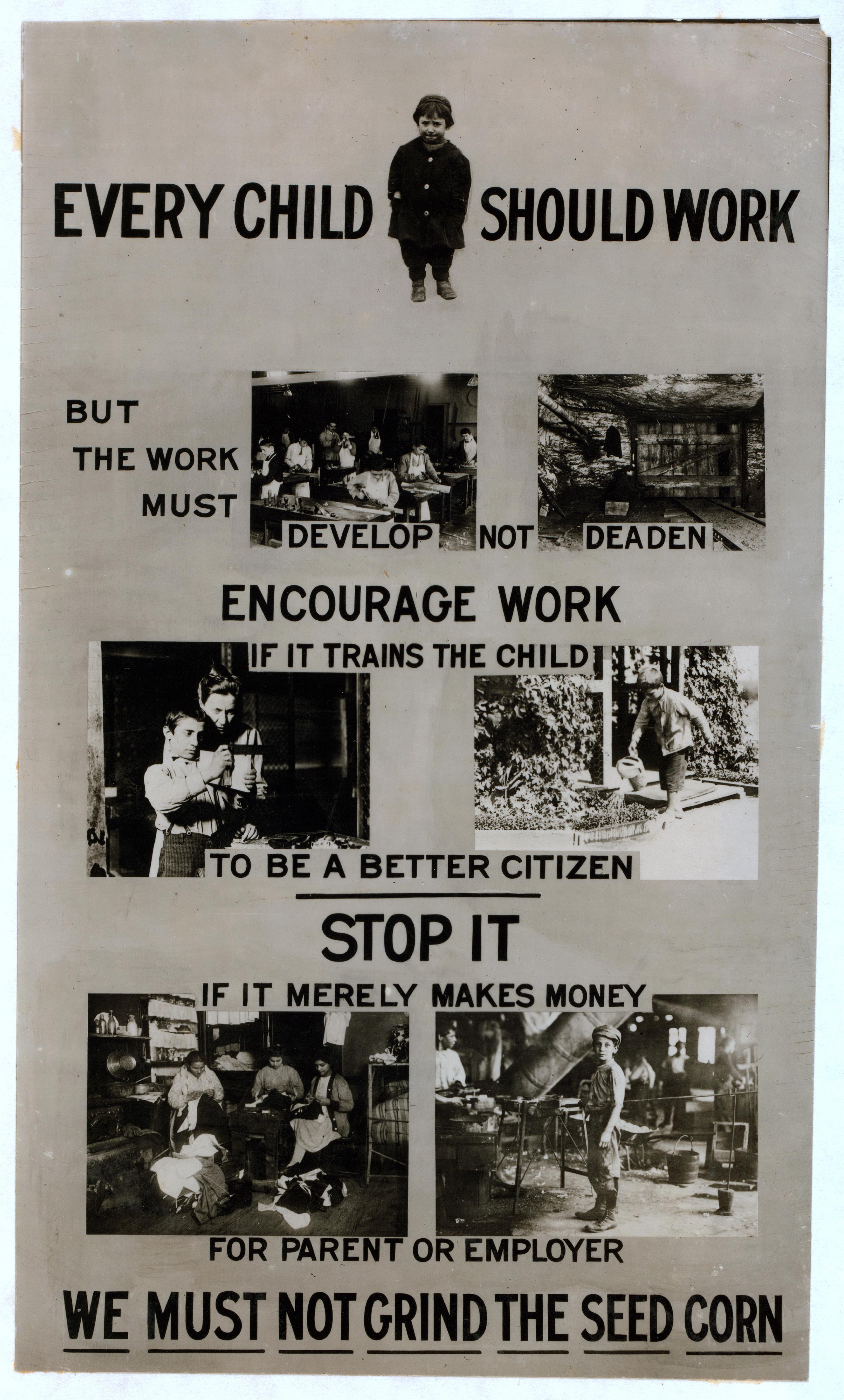 Pro Child Labor Poster 1915 Propagandaposters