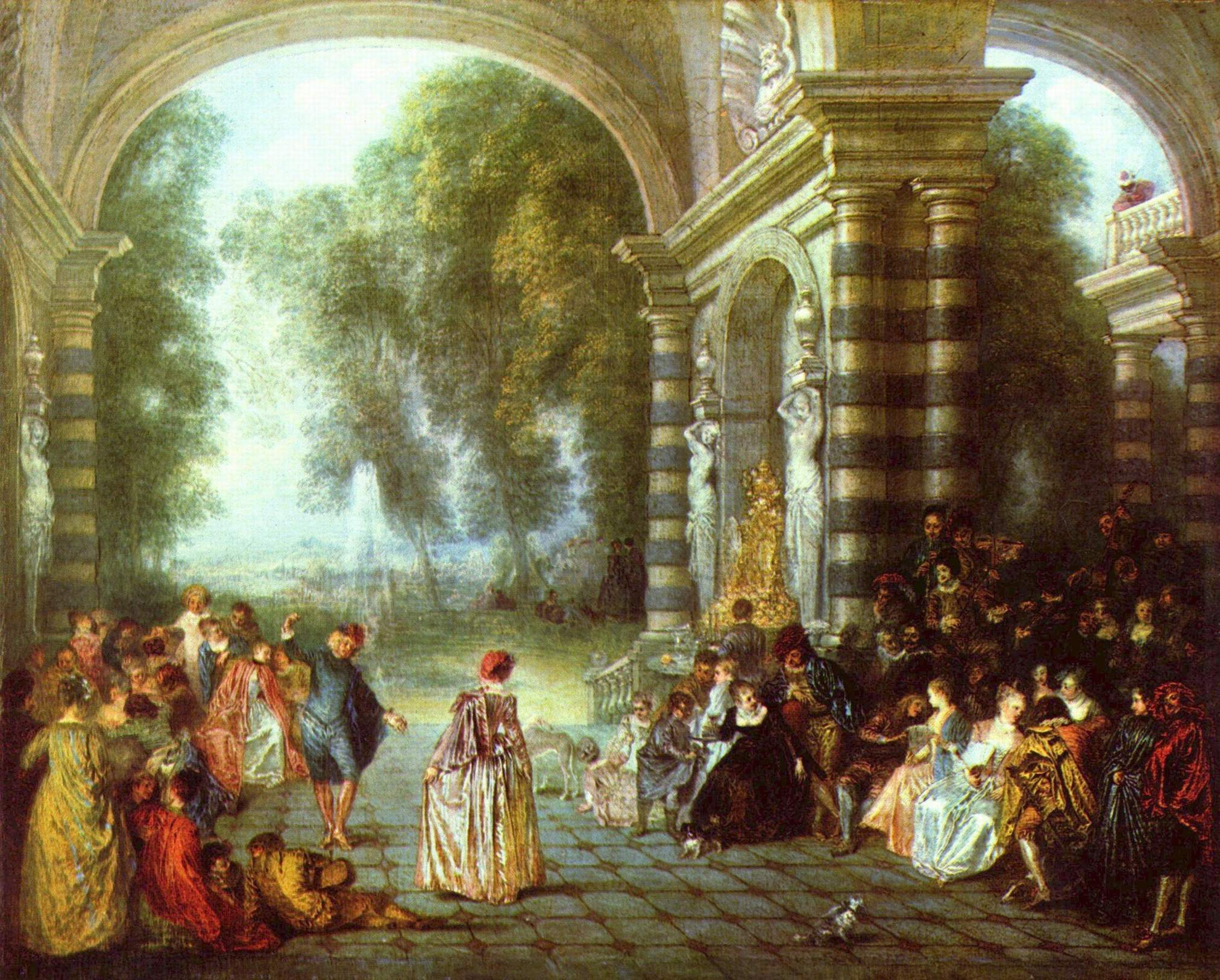 Rococo Art Watteau Jean-antoine watteau