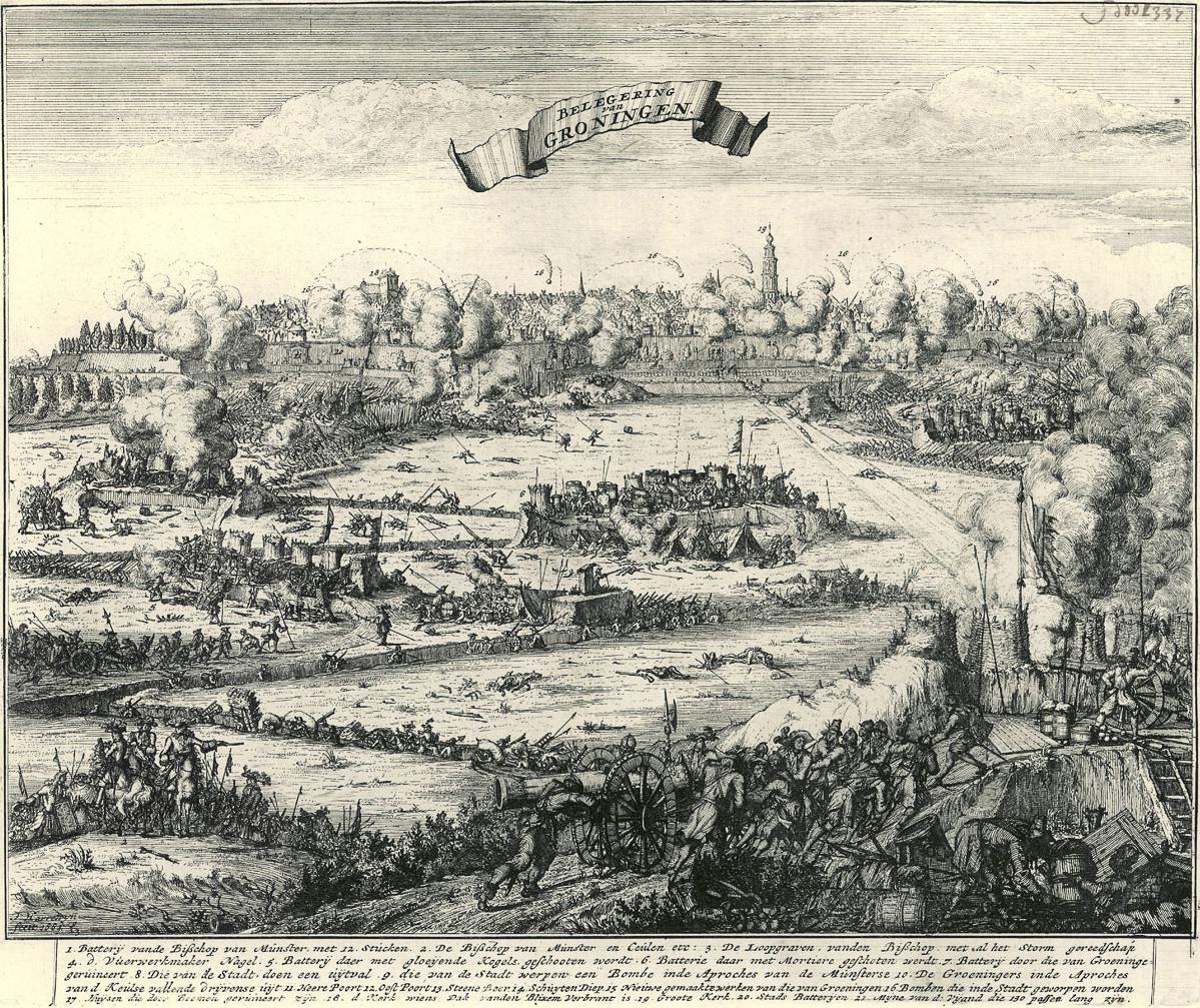 File:Beleg van Groningen - Siege of Groningen by Bernhard von Galen (1672)
