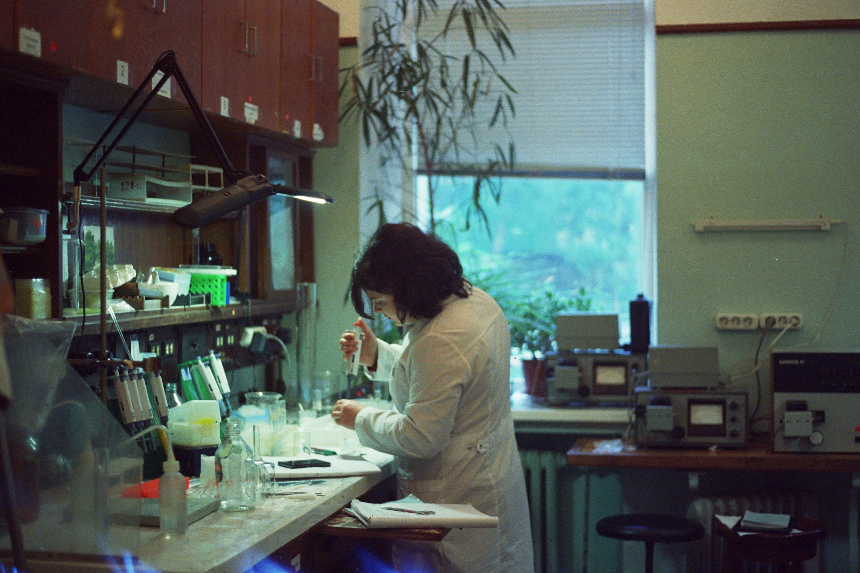 biochemistry student working
