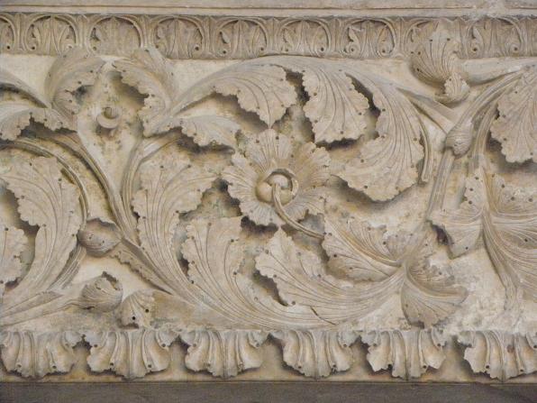 Détail du linteau du portail Nord de la cathédrale Saint-Étienne de Bourges (18).