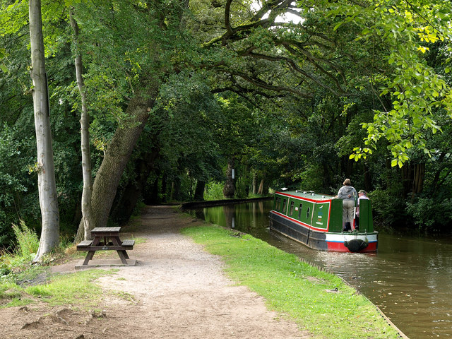 Canal Boat on the Llangollen Canal - geograph.org.uk - 1451582