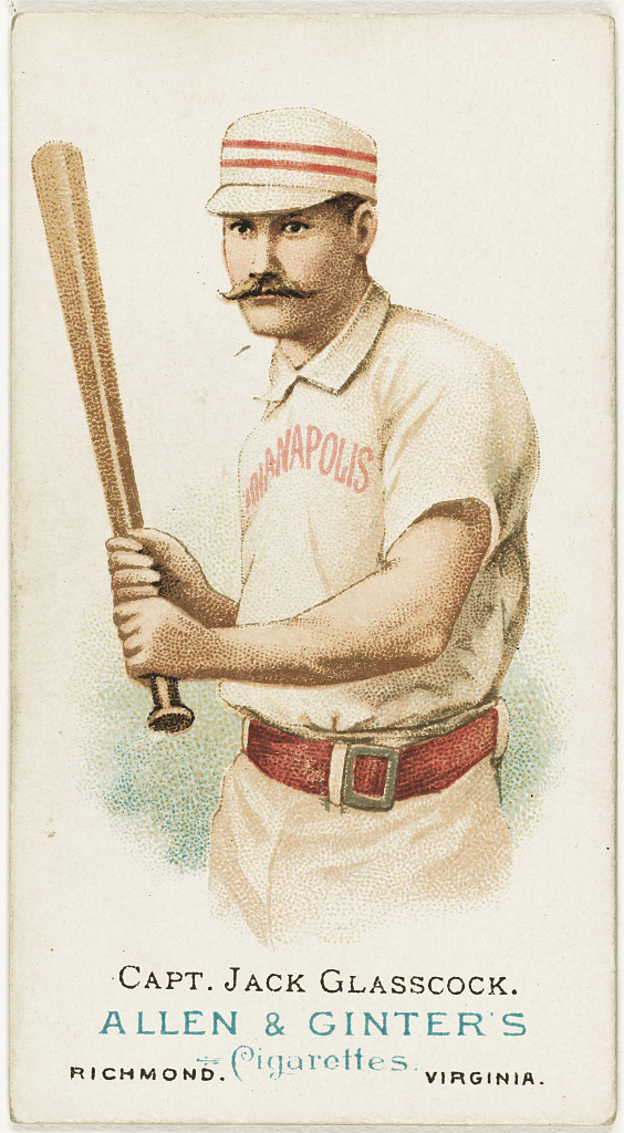 Filecapt Jack Glasscock Indianapolis Hoosiers Baseball Card