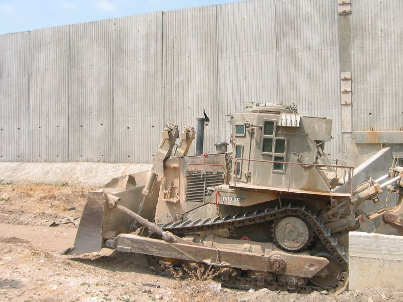 IDF D9N near the anti-terrorist security fence. Taken by joeskillet.