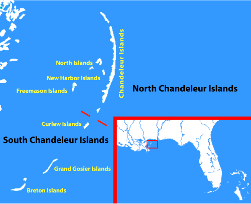 Chandeleur Island Fishing Map