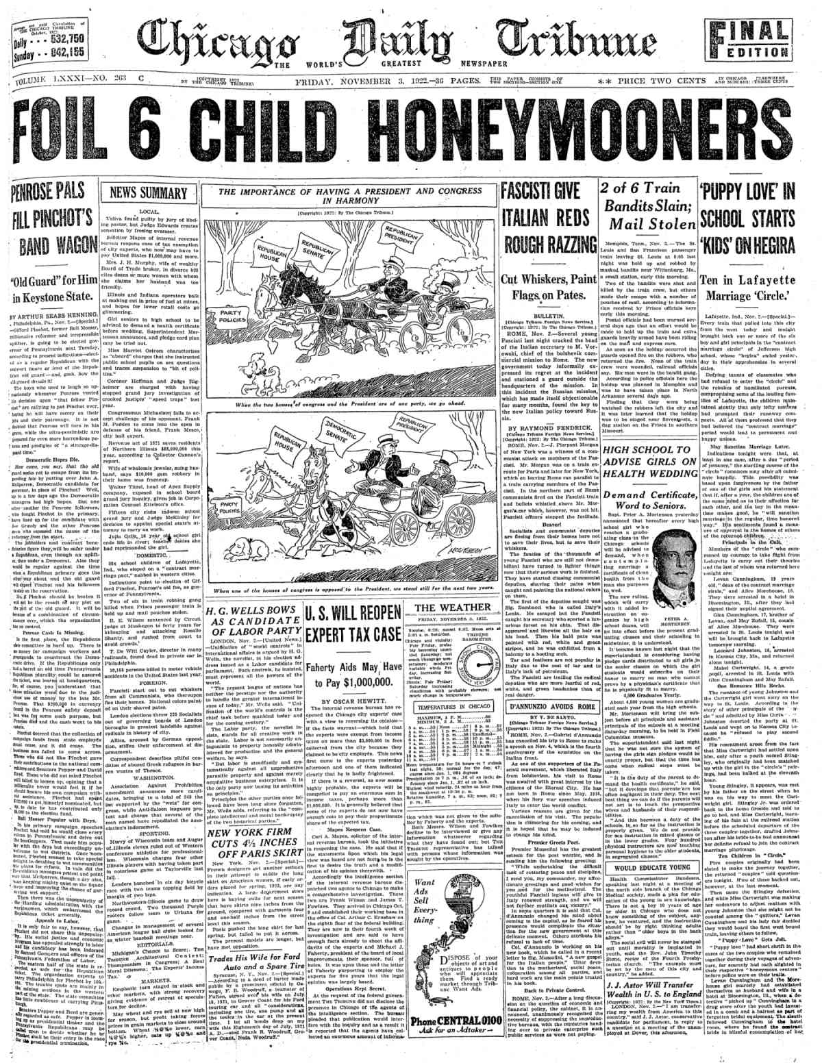 File:Chicago Daily Tribune 11 03 1922 png - Wikimedia Commons