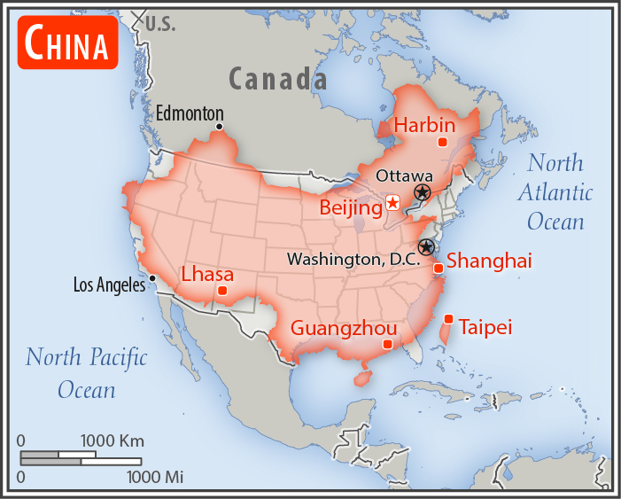 File China U S Area Comparison Jpg Wikimedia Commons