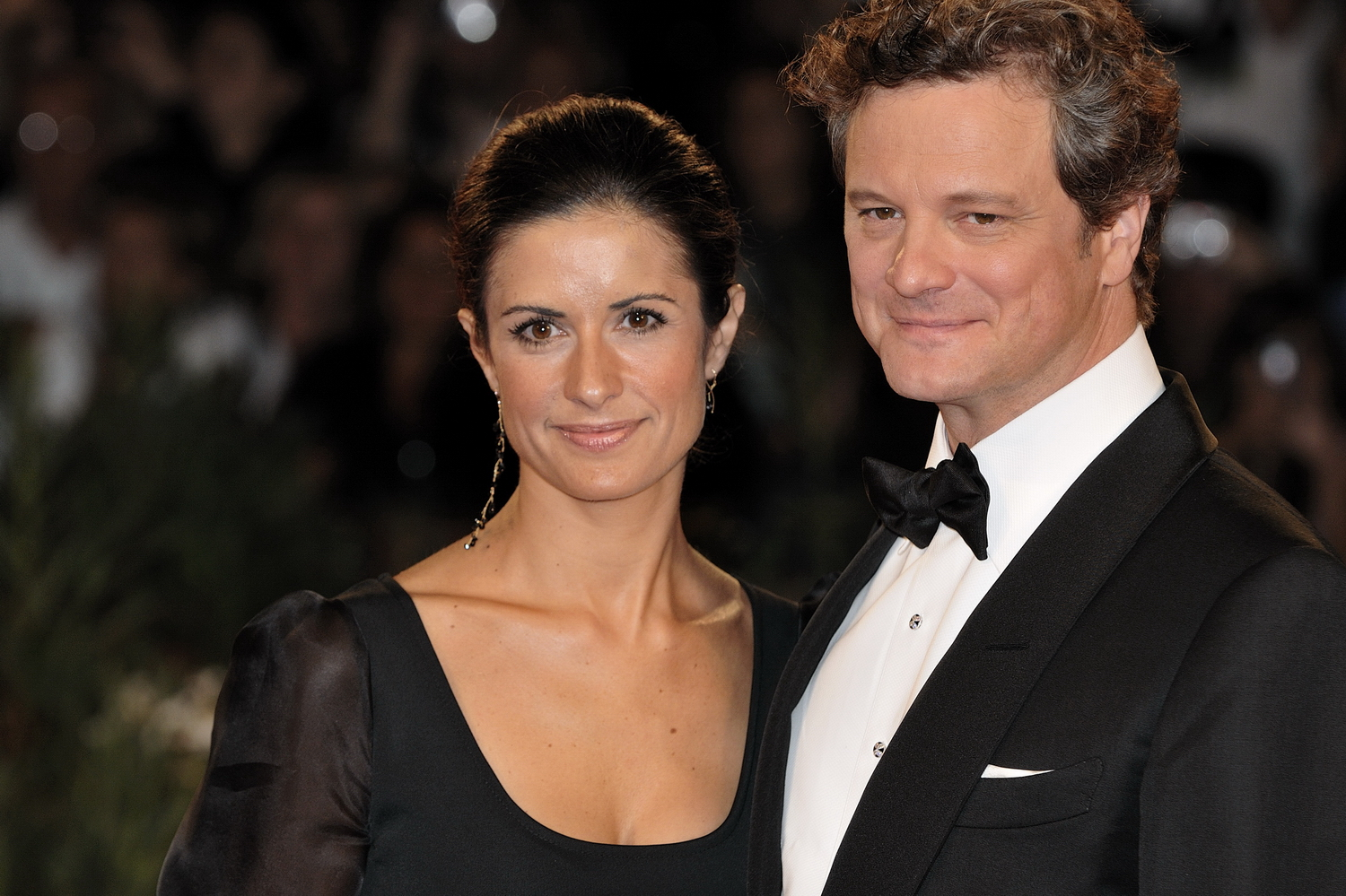 Colin Firth with cool, beautiful, cute, Girlfriend Livia Giuggioli