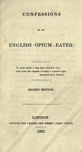 Picture of a book: Confessions Of An English Opium-Eater