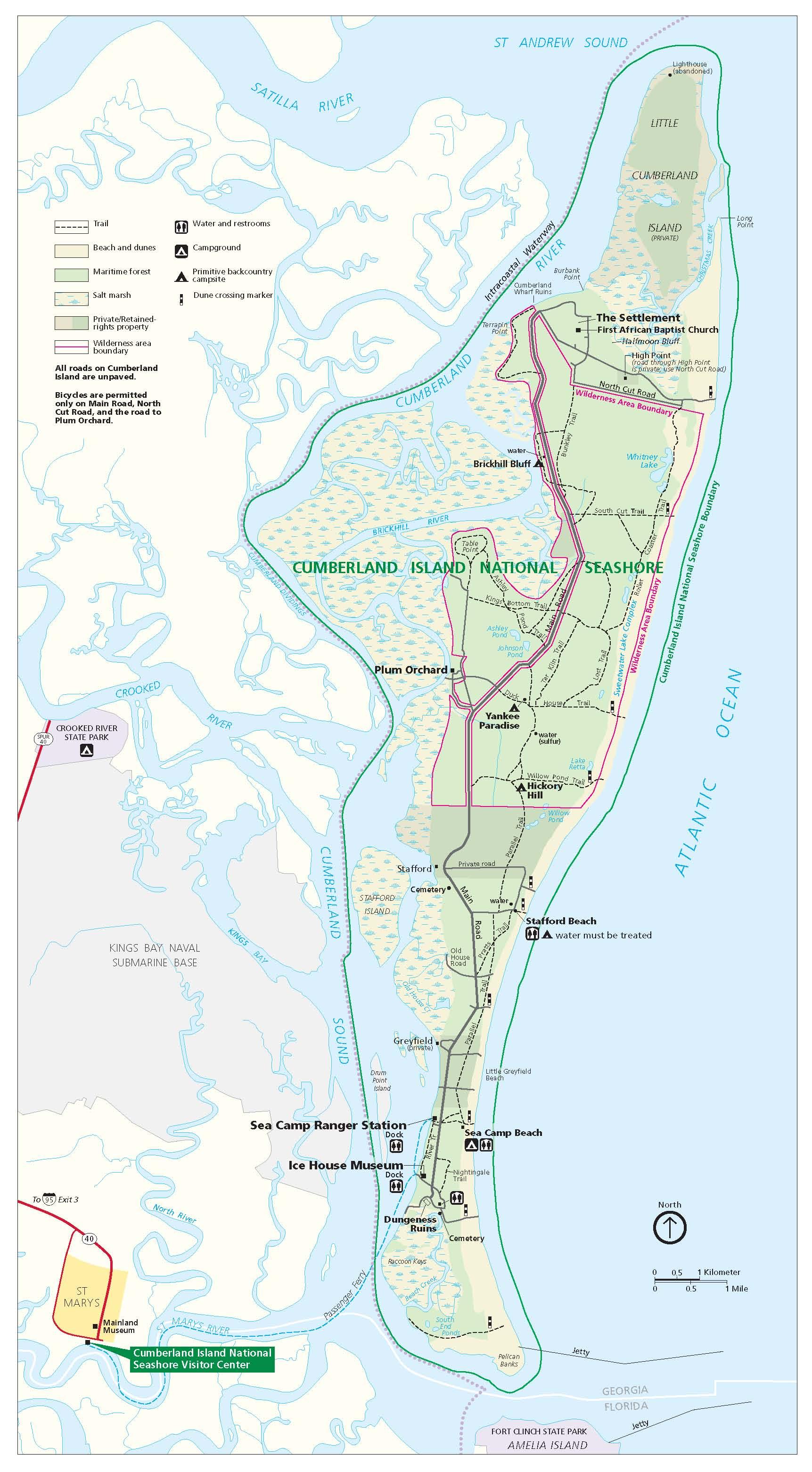 Cumberland Island Map File:Cumberland Island National Seashore map 2007.08.