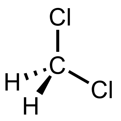 Dichloromethane molecular structure.png