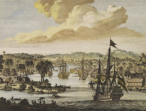 Dutch VOC ships in Chittagong, 1702 Dutch VOC ships in Chittagong or Arakan.jpg