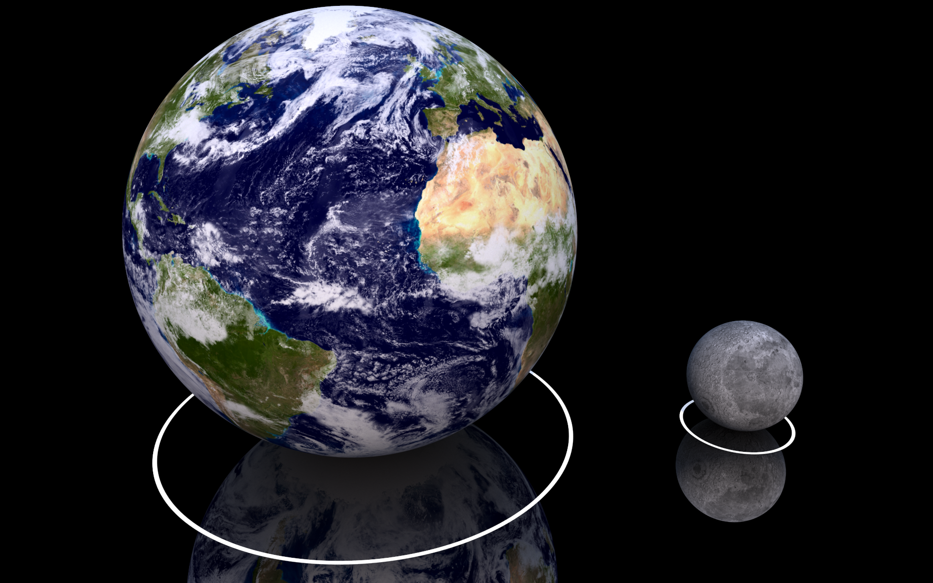 compare moon sun earth - photo #11