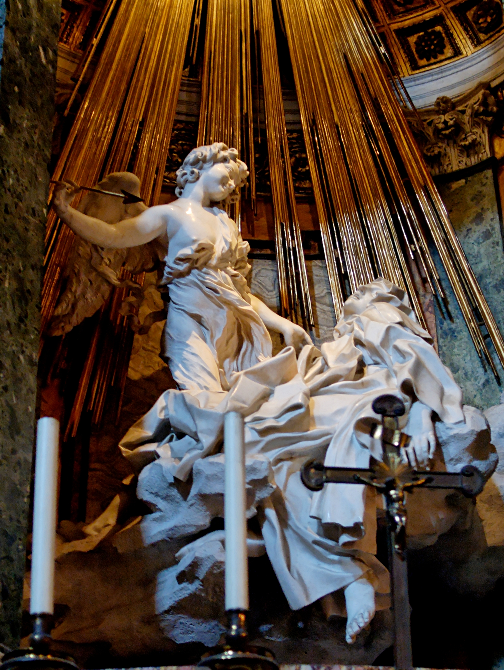 the ecstasy of st theresa The ecstasy of saint teresa is a white marble sculpture that was created by gian lorenzo bernini bernini was considered one of the great sculptors of his day.