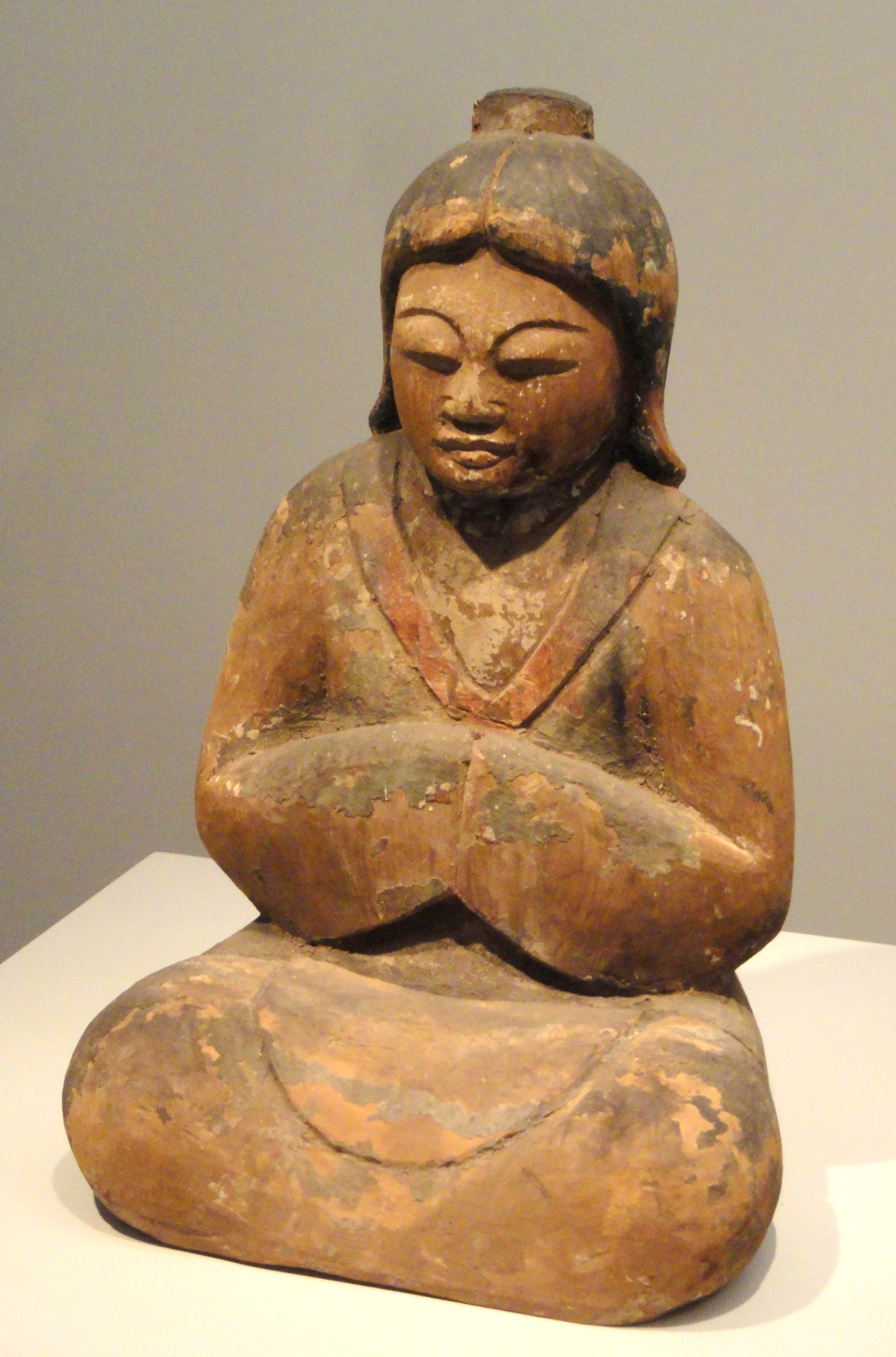 File Female Shinto Deity 12th Century Japan Wood With