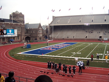 The University of Pennsylvania women's track and field team competes at Franklin Field, which is... [+] also home to the Penn Relays (Source: Wikipedia).