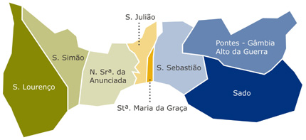 mapa concelho setubal São Sebastião (Setúbal) – Wikipédia, a enciclopédia livre mapa concelho setubal