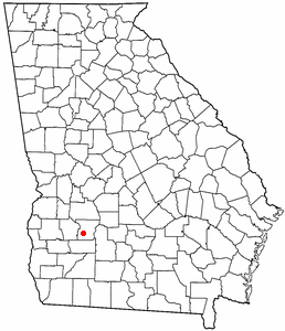 Location of Leesburg, Georgia