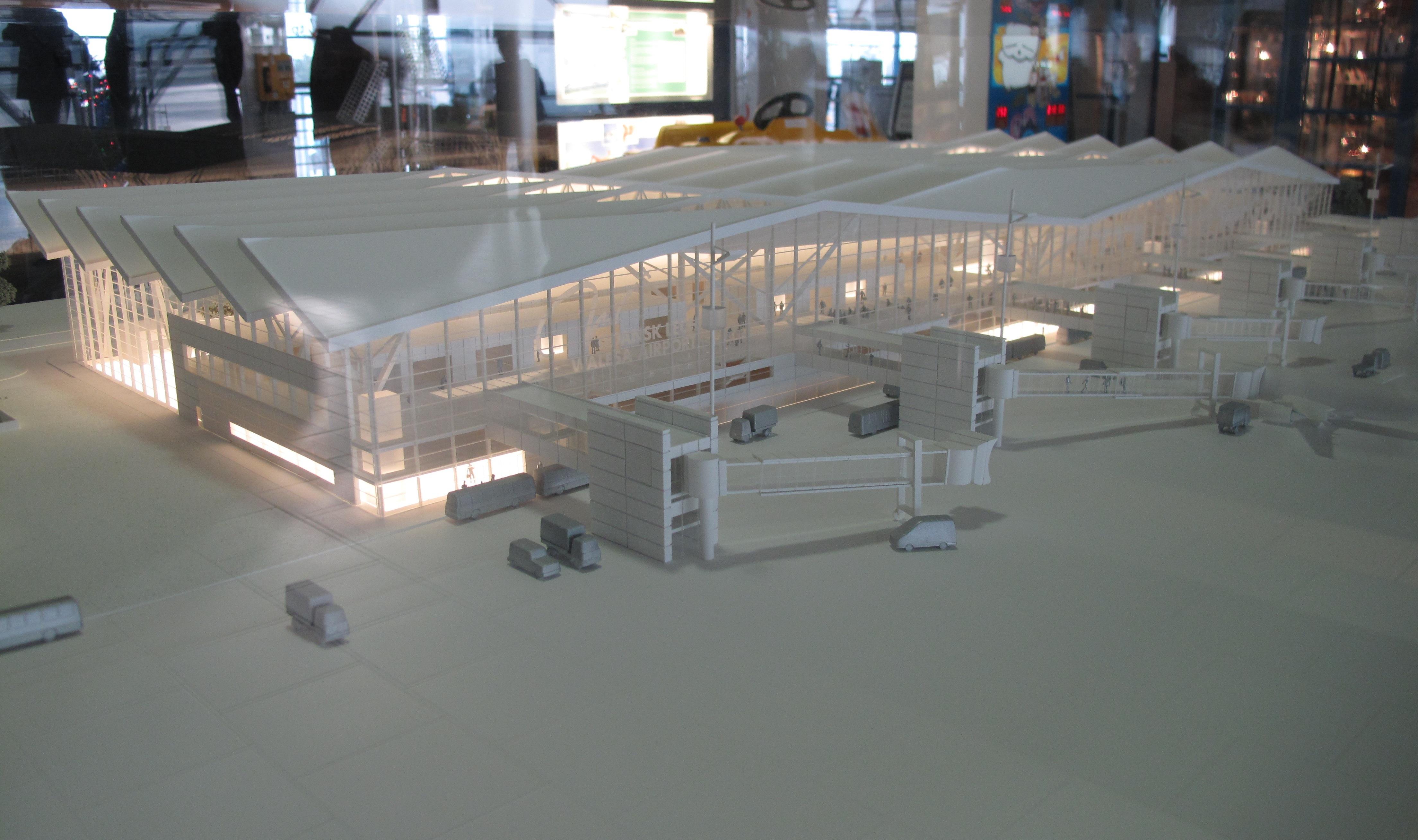 File Gdansk Airport Terminal Model 2012 A Jpg