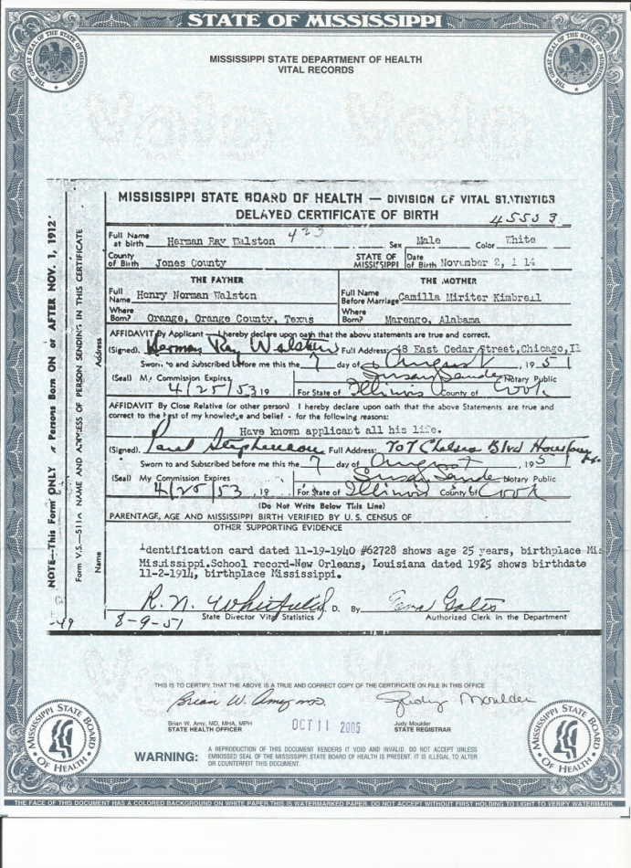 Fileherman Raymond Walston Birth Certificateg Wikimedia Commons