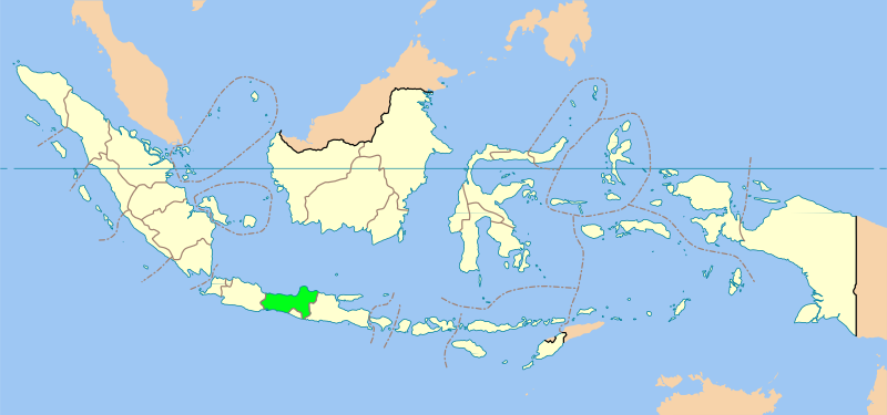Map Of Java Indonesia. Map showing Central Java
