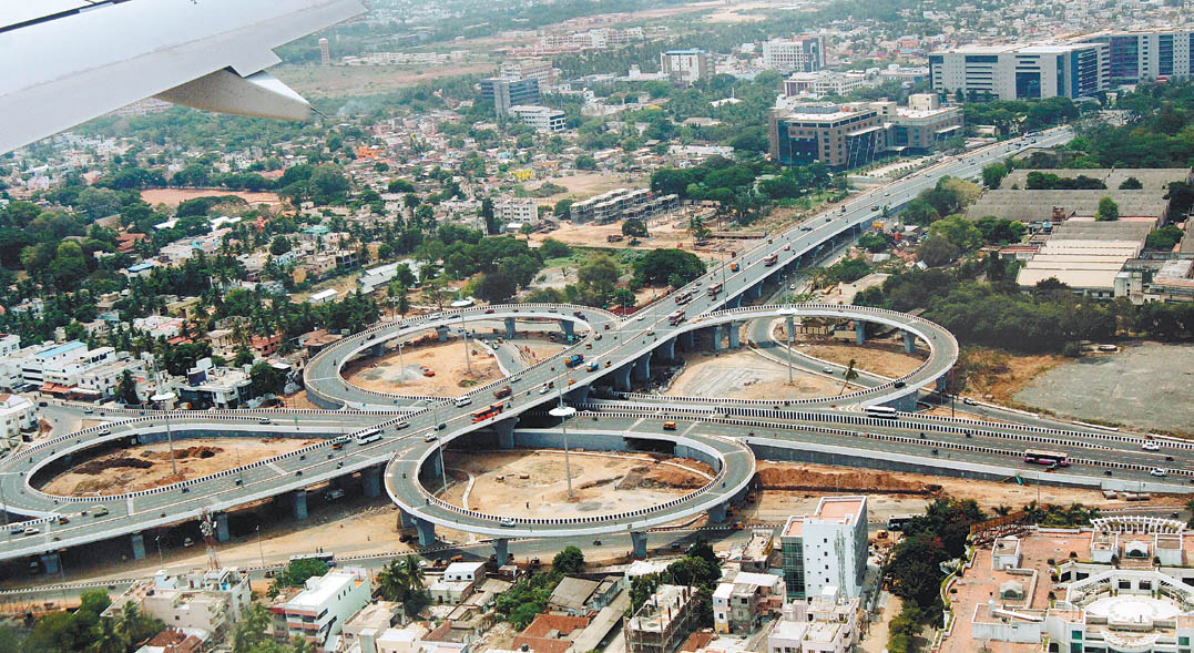 clover shaped flyover Chennai
