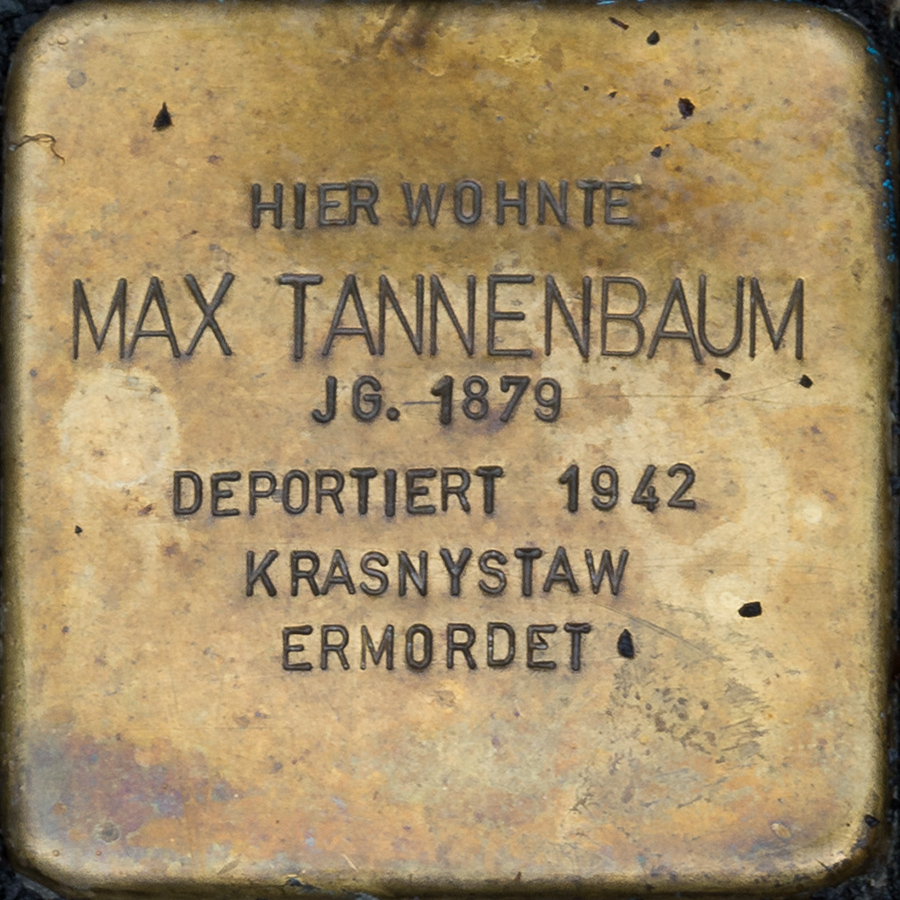 Kronach - Stolperstein Max Tannenbaum (Friesener Straße 21).jpg