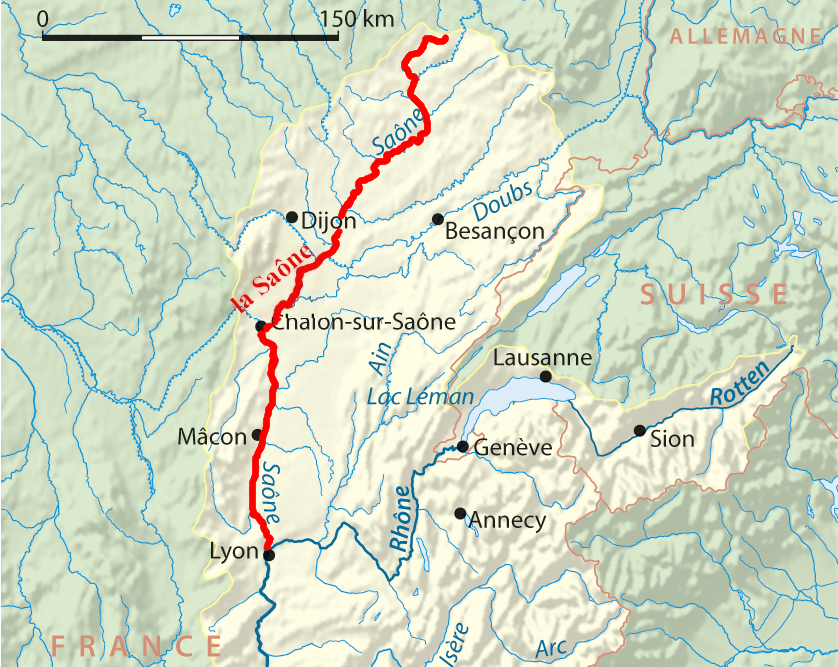 la rivière Saône