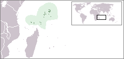 Location of the Seychelles
