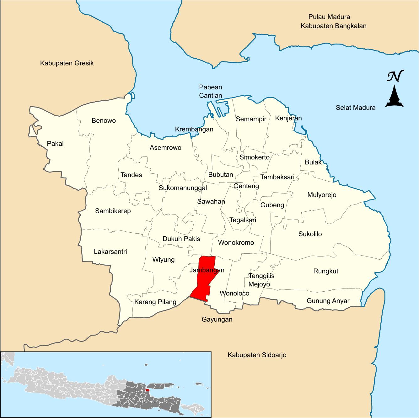 Jambangan, Surabaya - Wikipedia bahasa Indonesia ...