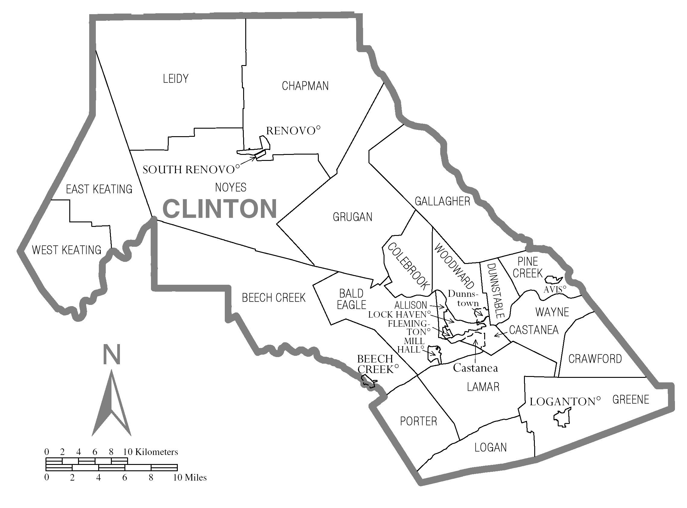 file map of clinton county  pennsylvania png