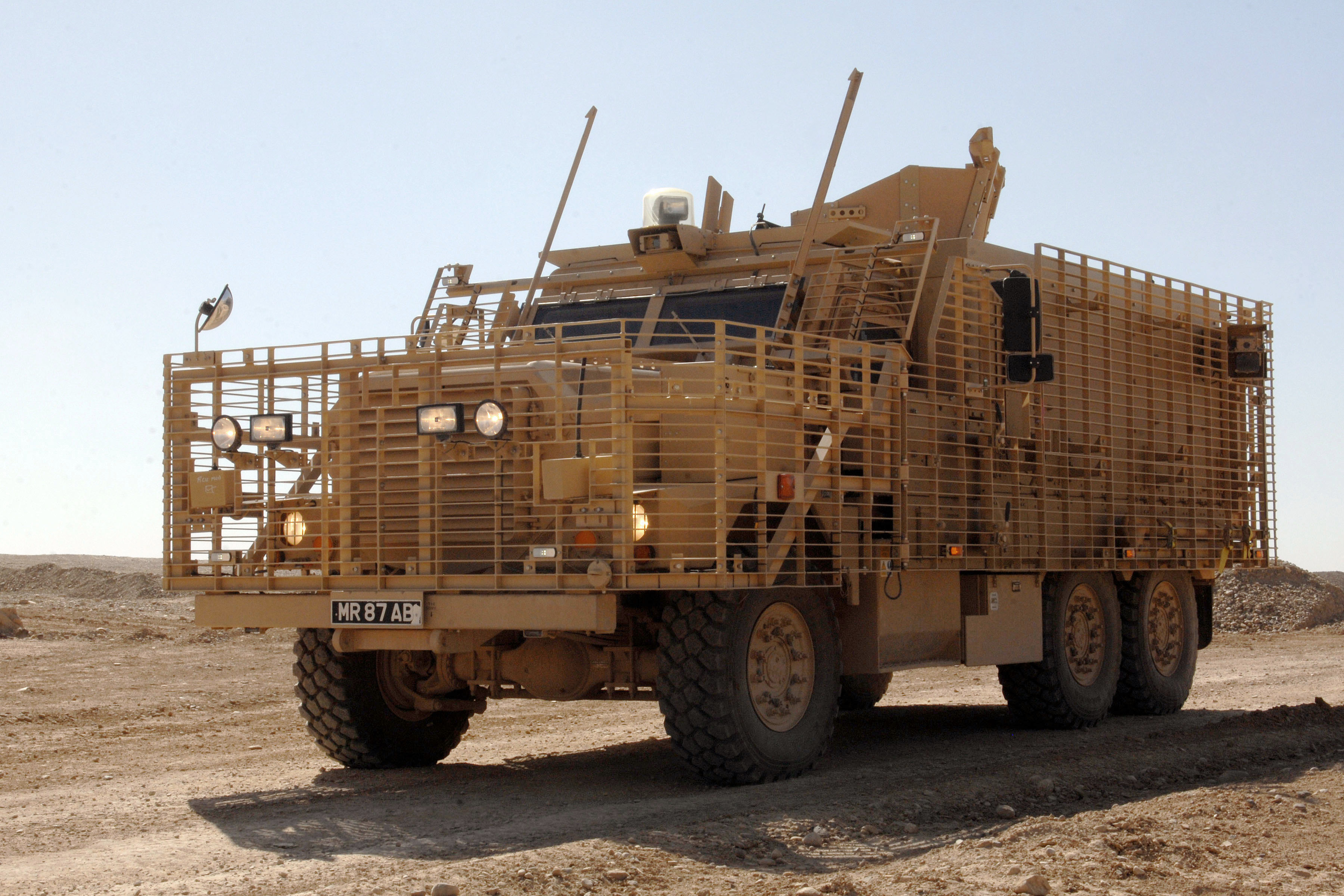 File:Mastiff 2 Armoured Vehicle Leads the Convoy at the Defence ...