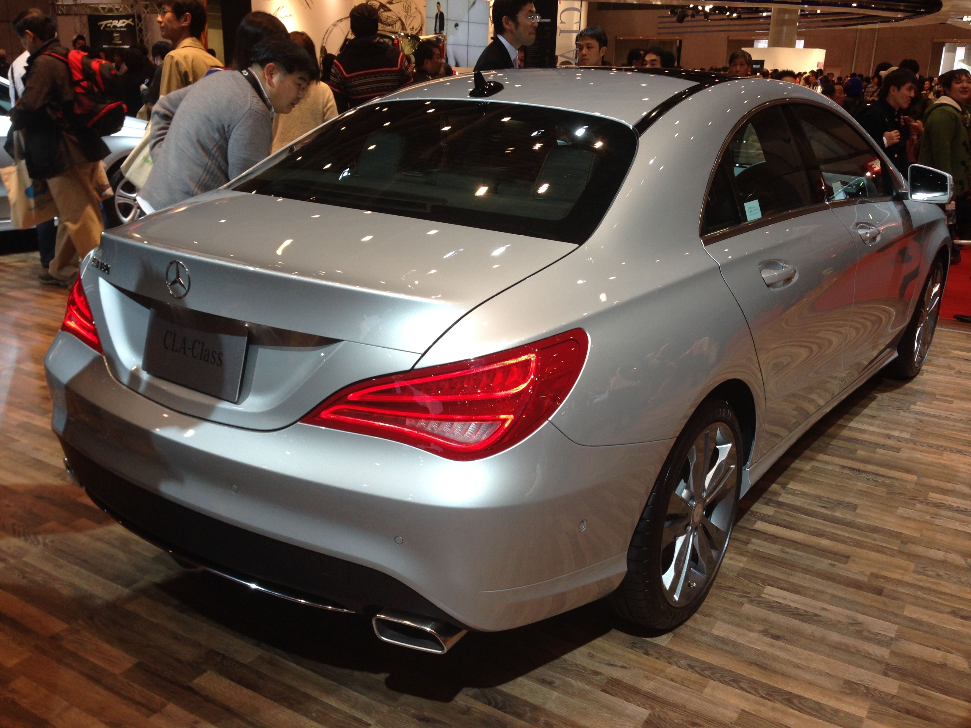 file mercedes benz cla 180 rear tokyo motor show. Black Bedroom Furniture Sets. Home Design Ideas