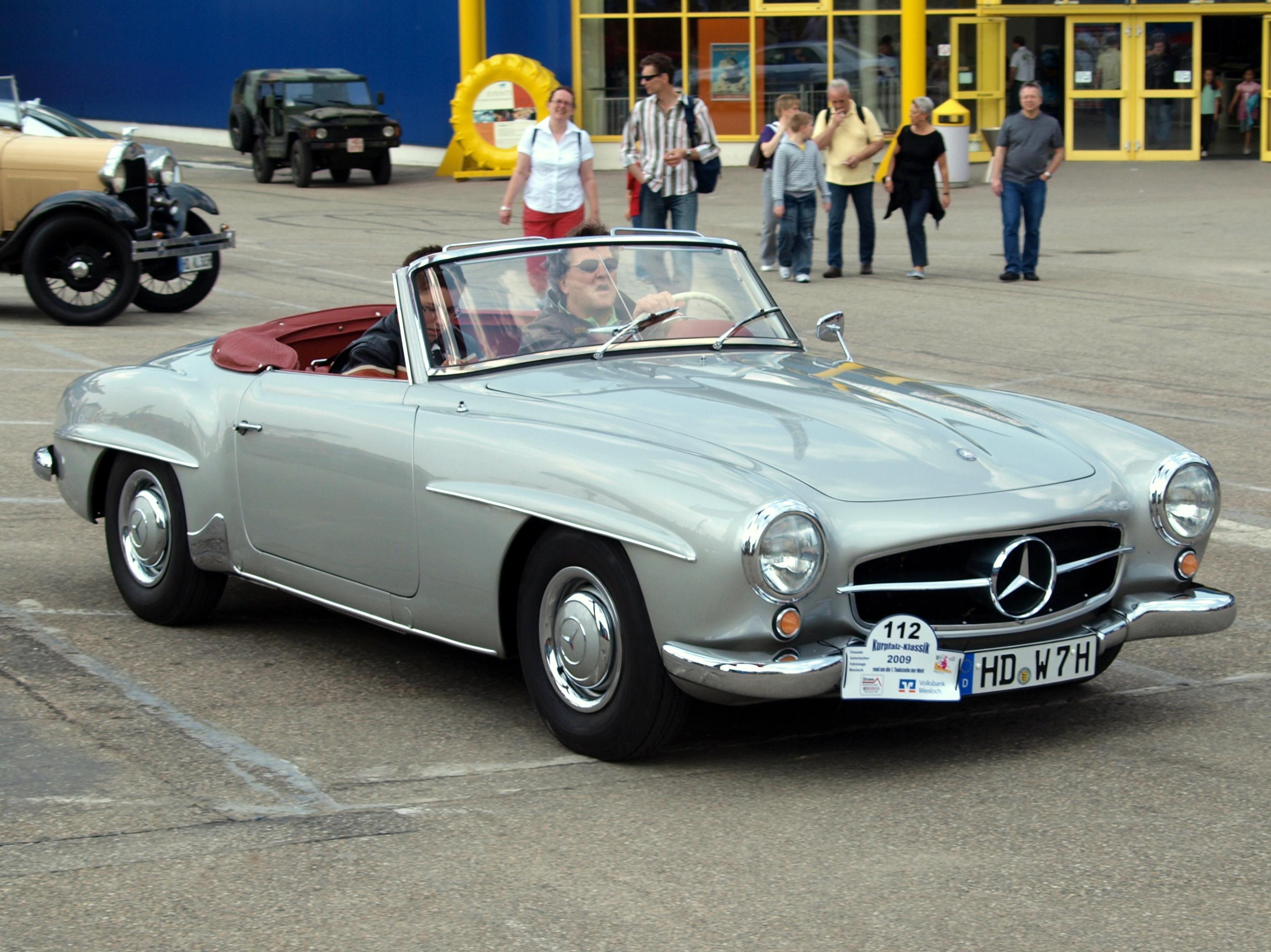 File:Mercedes Benz Mercedes 190 SL Cabrio p1.JPG ...