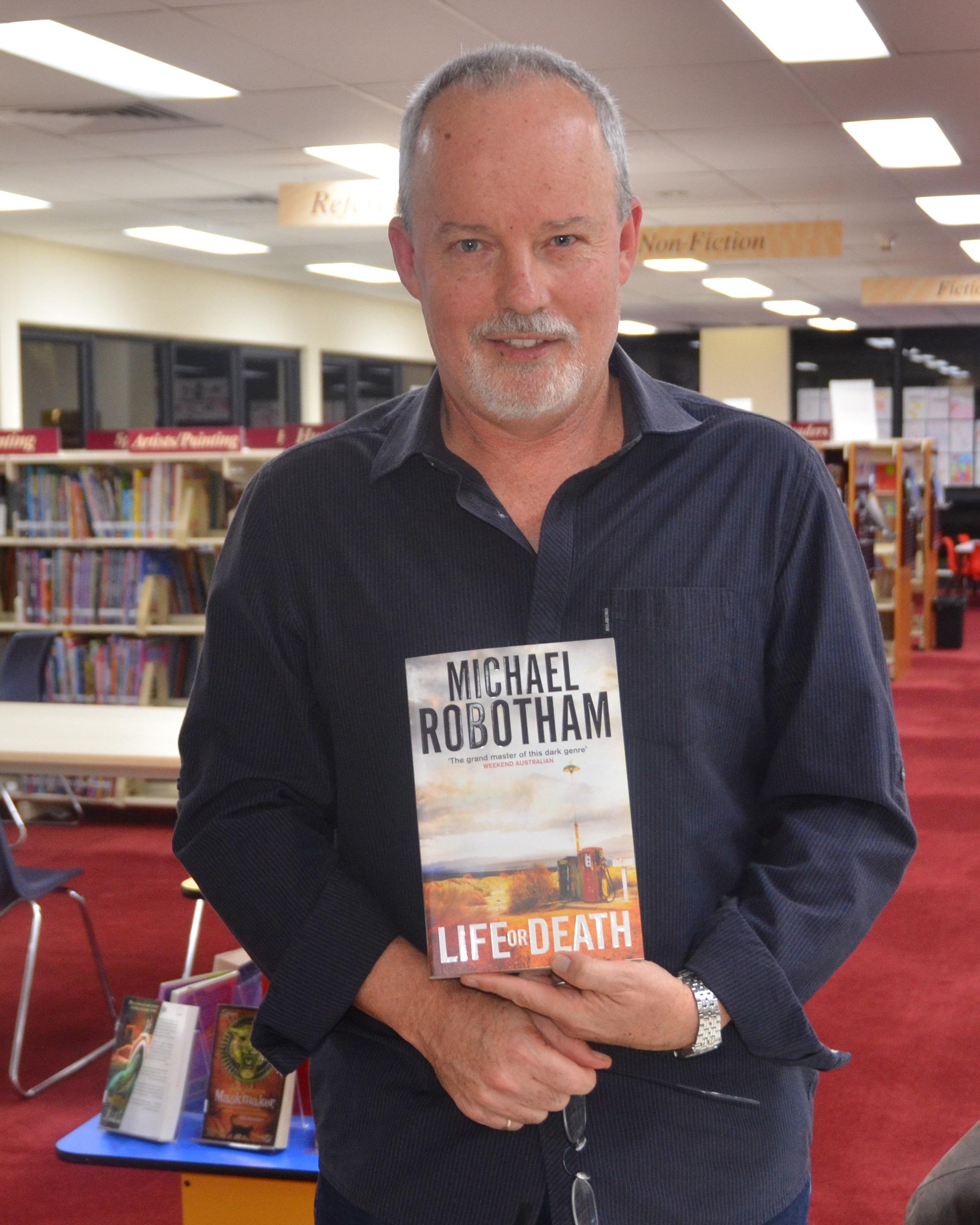 Michael Robotham in 2014 at Mosman Library Service
